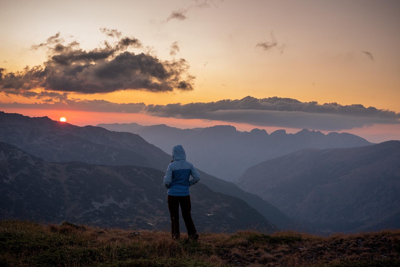Ribni ezera and Malyovitsa peak at sunset